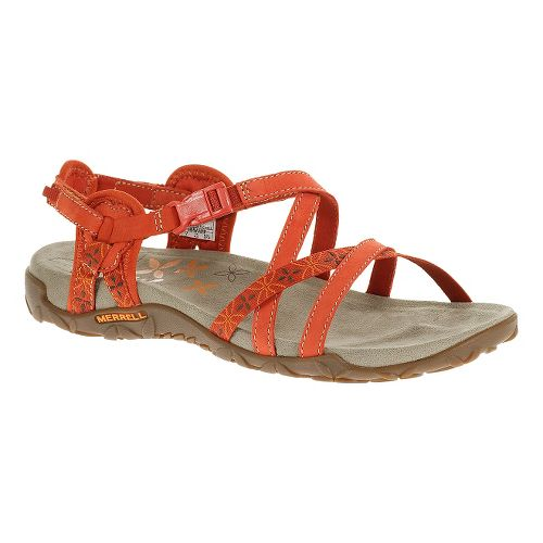 Womens Merrell Terran Lattice Sandals Shoe - Red Clay 8