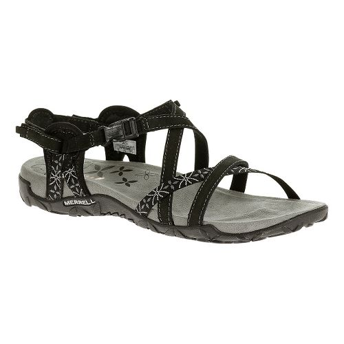 Womens Merrell Terran Lattice Sandals Shoe - Silver Lining 5