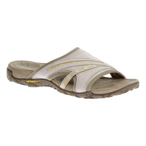 Womens Merrell Terran Slide Sandals Shoe - Silver Lining 11