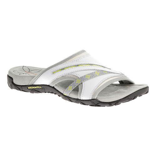 Womens Merrell Terran Slide Sandals Shoe - White 5