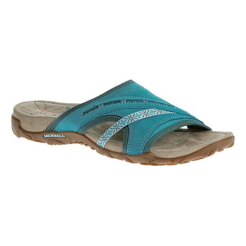 Womens Merrell Terran Slide Sandals Shoe - Algiers Blue 7