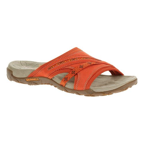 Womens Merrell Terran Slide Sandals Shoe - Red Clay 10