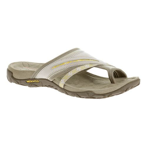 Womens Merrell Terran Post Sandals Shoe - Silver Lining 8