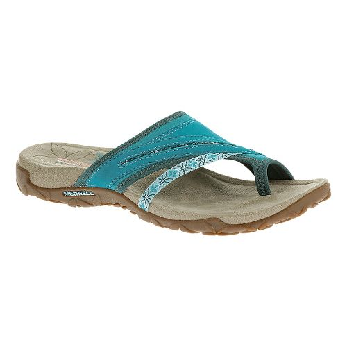 Womens Merrell Terran Post Sandals Shoe - Algiers Blue 7