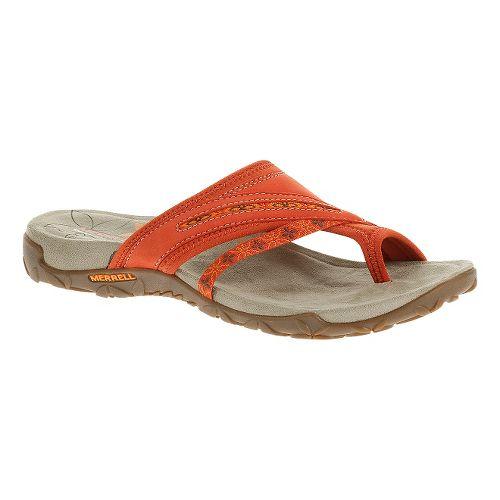 Womens Merrell Terran Post Sandals Shoe - Red Clay 8
