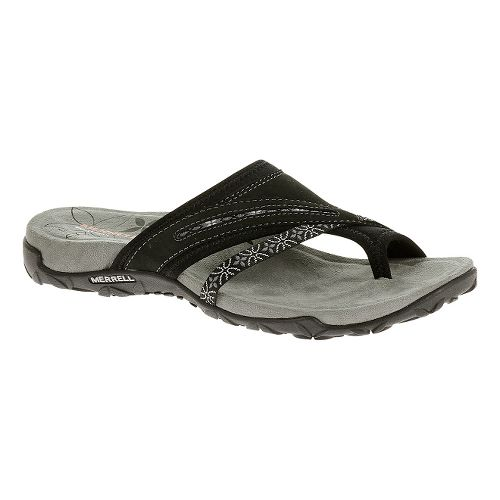 Womens Merrell Terran Post Sandals Shoe - Black 5