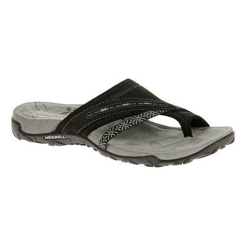 Womens Merrell Terran Post Sandals Shoe - Silver Lining 9