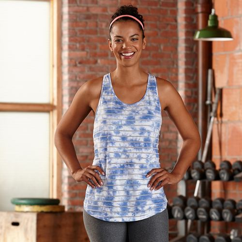 Womens R-Gear Stripe Hype Tank Sleeveless & Tank Technical Tops - Neptune Blue L