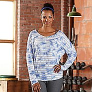 Womens R-Gear Stripe Hype Long Sleeve Technical Tops - Neptune Blue M