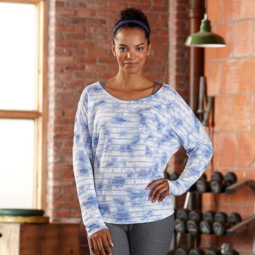 Womens R-Gear Stripe Hype Long Sleeve Technical Tops - Neptune Blue XS
