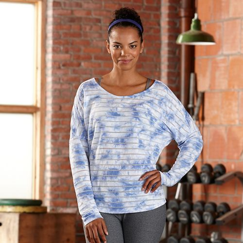 Womens R-Gear Stripe Hype Long Sleeve Technical Tops - Neptune Blue L