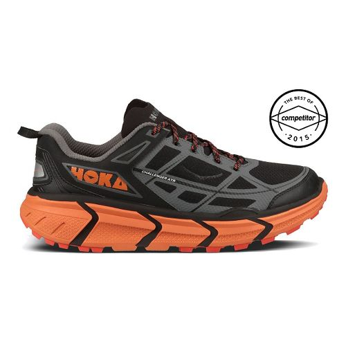 Mens Hoka One One Challenger ATR Trail Running Shoe - Black/Orange 10