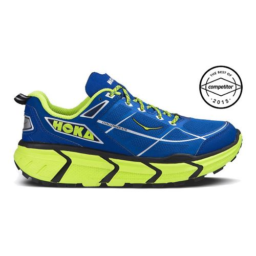 Mens Hoka One One Challenger ATR Trail Running Shoe - Blue/Citrus 12