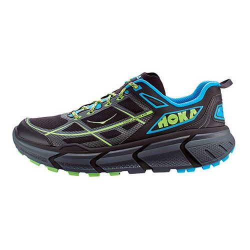 Mens Hoka One One Challenger ATR Trail Running Shoe - Black/Cyan 14