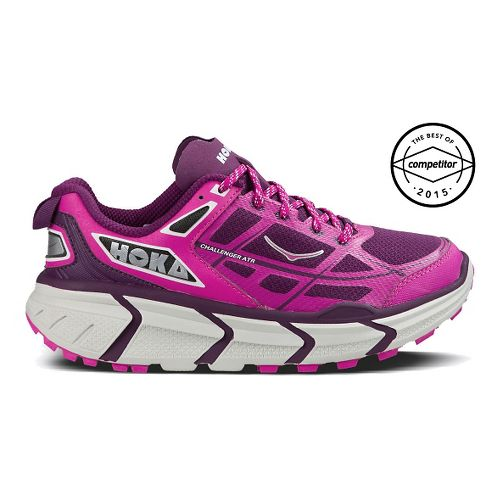 Womens Hoka One One Challenger ATR Trail Running Shoe - Fuchsia/Plum 6.5