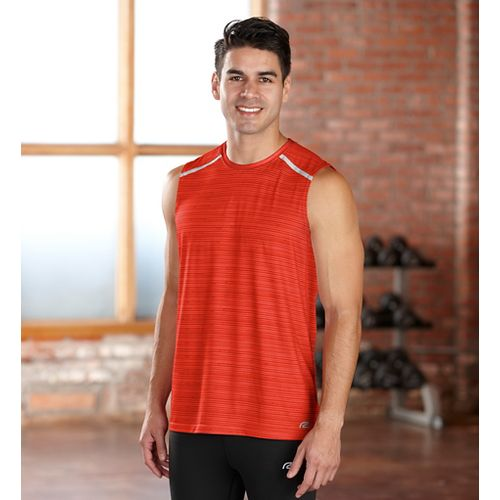 Mens R-Gear Your Unbeatable Sleeveless Technical Tops - Flame S