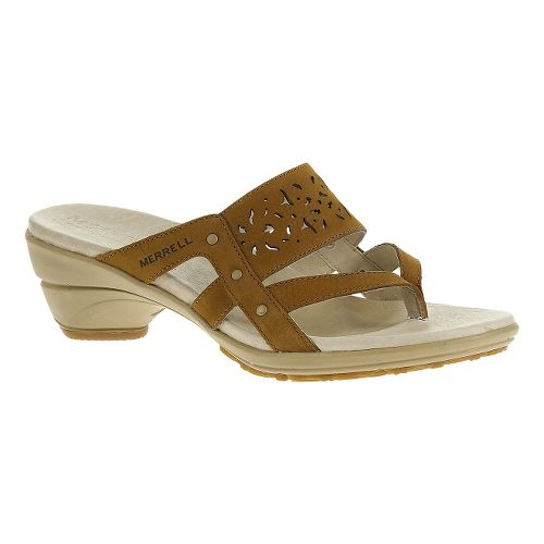 Womens Merrell Veranda Ribbon Sandals Shoe - Oat Straw 11