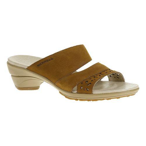 Womens Merrell Veranda Slide Sandals Shoe - Oat Straw 7