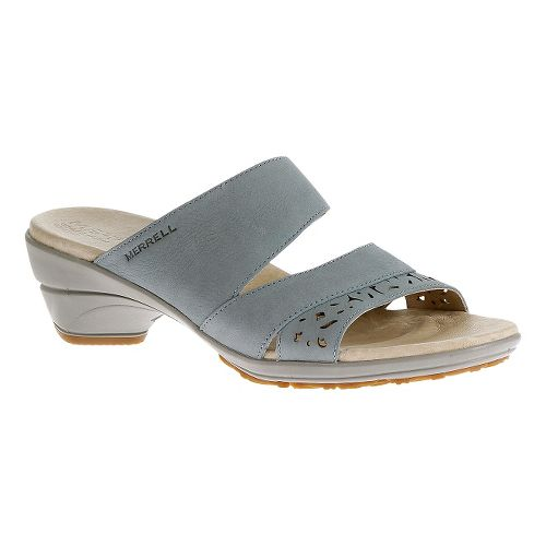 Womens Merrell Veranda Slide Sandals Shoe - Dusty Blue 5