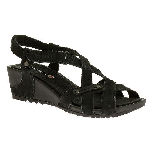 Womens Merrell Revalli Cross Sandals Shoe - Black 5