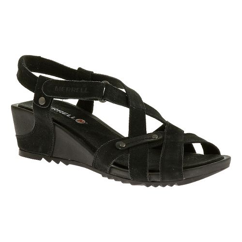 Womens Merrell Revalli Cross Sandals Shoe - Black 8