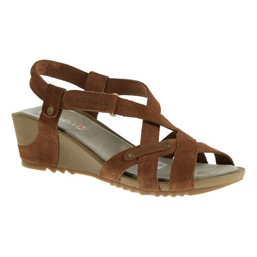 Womens Merrell Revalli Cross Sandals Shoe - Tortoise Shell 7