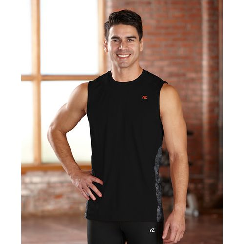 Mens R-Gear Fast Track Sleeveless Technical Tops - Black XXL