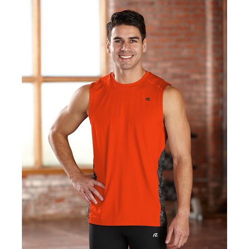 Mens R-Gear Fast Track Sleeveless Technical Tops - Flame M