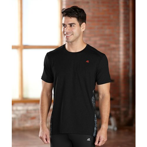 Mens R-Gear Fast Track Short Sleeve Technical Tops - Black XL