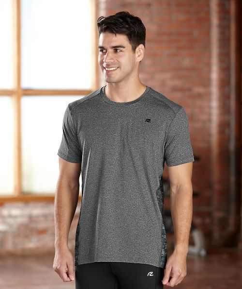 Mens R-Gear Fast Track Short Sleeve Technical Tops - Heather Charcoal XL