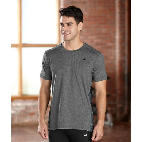 Mens R-Gear Fast Track Short Sleeve Technical Tops - Heather Charcoal L