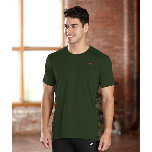Mens R-Gear Fast Track Short Sleeve Technical Tops - Hunter Green L