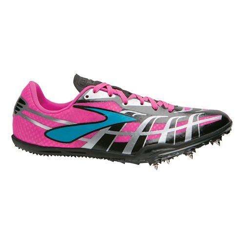 Womens Brooks PR Sprint 3 Track and Field Shoe - Black/Pink 9