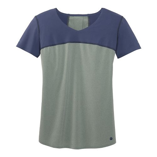 Womens Brooks PureProject II Short Sleeve Technical Top - Watercolor/Midnight XS
