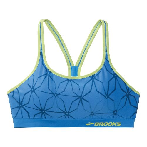 Womens Brooks Versatile Shape Sports Bras - Cornflower/Apple L