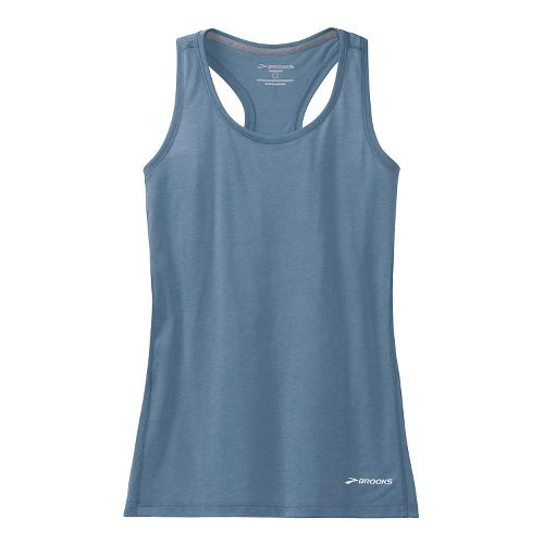 Womens Brooks Versatile Printed Racerback IV Tank Technical Top - Storm M