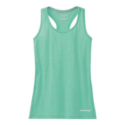 Womens Brooks Versatile Printed Racerback IV Tank Technical Top - Storm L