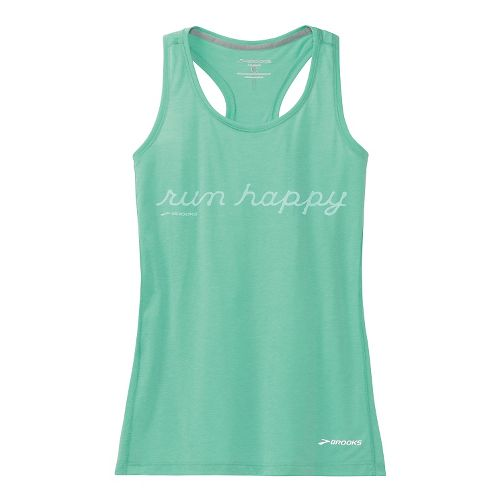 Womens Brooks Versatile Racerback IV RunHappy Tank Technical Top - Storm L