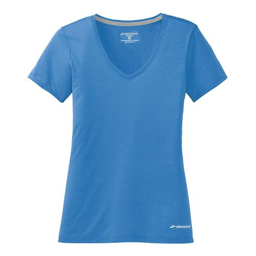 Womens Brooks Versatile IV Short Sleeve Technical Top - Cornflower L