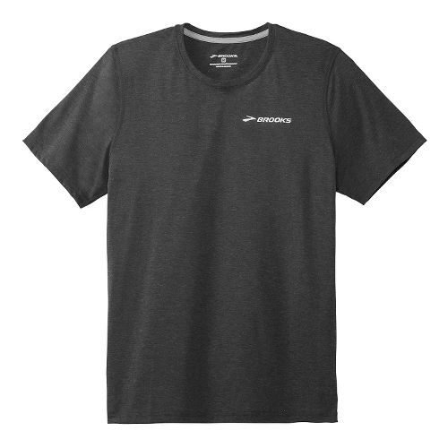 Mens Brooks EZ T III Short Sleeve Technical Top - Black XS