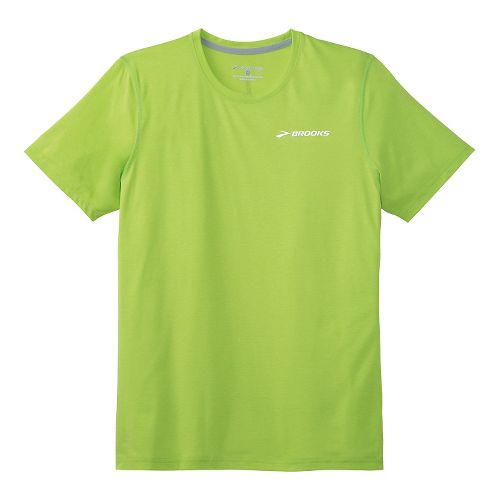 Mens Brooks EZ T III Short Sleeve Technical Top - Lime Green XXL