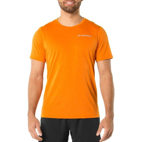 Mens Brooks EZ T III Short Sleeve Technical Top - Satsuma M