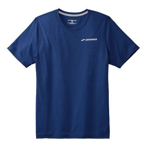 Mens Brooks EZ T III Short Sleeve Technical Top - Indigo L