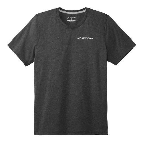 Mens Brooks EZ T III Short Sleeve Technical Top - Black XXL