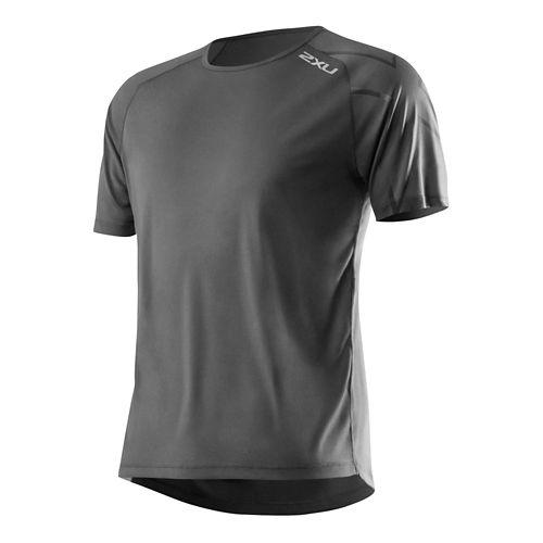 Mens 2XU GHST Short Sleeve Technical Top - Charcoal/Charcoal XXL