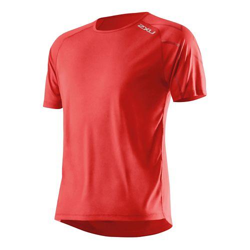 Mens 2XU GHST Short Sleeve Technical Top - Scarlet/Scarlet M