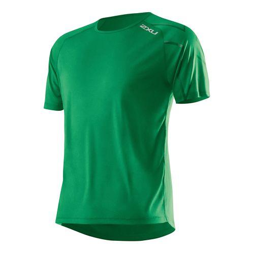 Mens 2XU GHST Short Sleeve Technical Top - Hunter Green/Hunter G M