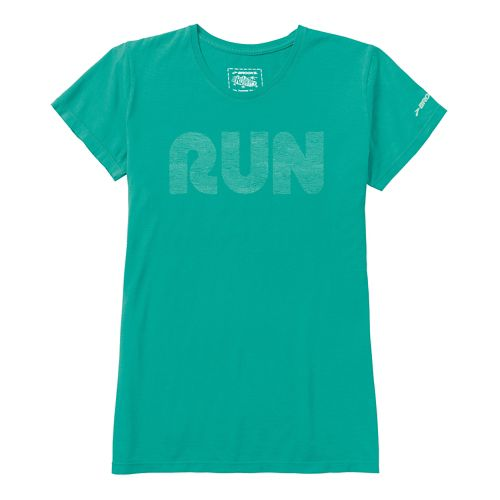 Womens Brooks Run Mist Short Sleeve Non-Technical Tops - Midnight M
