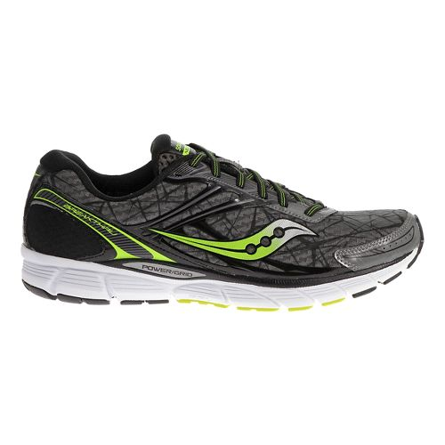 Mens Saucony Breakthru Running Shoe - Grey/Citron 15