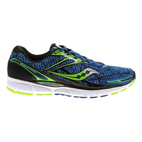 Mens Saucony Breakthru Running Shoe - Blue/Slime 9.5